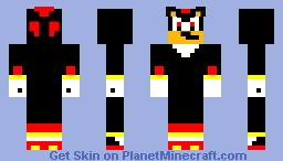 Shadow the Hedgehog Minecraft Skin