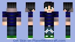 Blue Striped Hoodie. Minecraft Skin