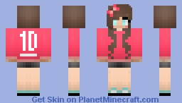 One Direction Fangirl ^_^ Minecraft Skin