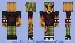 Punk Pumpkin (TheJustCookie's Palette Challenge) Minecraft Skin
