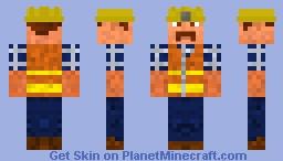 Construction Worker Minecraft Skin