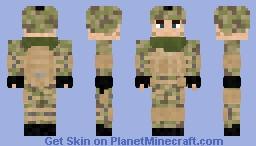 Multicam Soldier Minecraft Skin