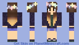 flower crown Minecraft Skin