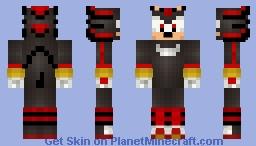 Shadow the Hedgehog (Sonic Boom skin series) Minecraft Skin