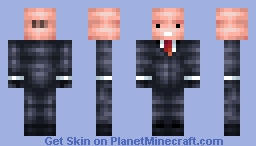 Agent 47 - Hitman Minecraft Skin