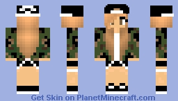 Camo Girl Minecraft Skin - Camo skins fur minecraft