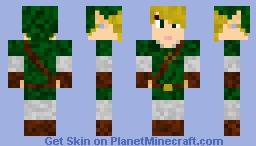 Link  -- The Legend of Zelda Minecraft Skin