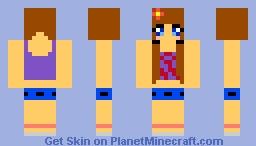 Ponytail Girl Minecraft