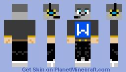 Gamer Wolf Minecraft Skin