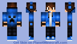 Cool Boy Skin Blue With HeadPhones Made By YARINEVAR Minecraft Skin