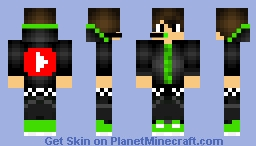 Green YouTuber Minecraft Skin