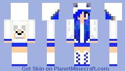 blue wolf girl Minecraft Skin