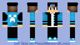 Cool Boy Skin With Cap Minecraft Skin