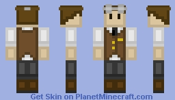 Steampunk Engineer Minecraft Skin