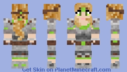 Female Ranger Warrior Minecraft Skin