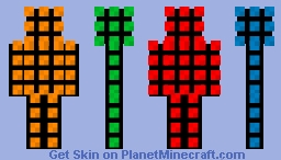 Minecraft Rubik's cube guy [1.8] Minecraft Skin