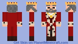 King of the Pixels, Rightful Lord of the Block, Protector of the Testificates... Minecraft Skin