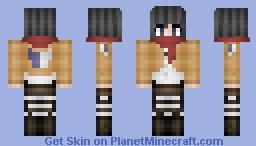 Mikasa Minecraft Skin