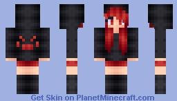 Spider Girl (Male version in desc) Minecraft Skin