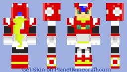 Mega Man- Zero Minecraft Skin