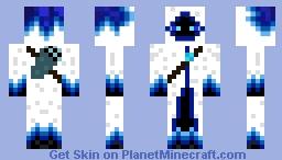 Ice Enderman Minecraft Skin