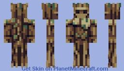 Groot Minecraft Skin