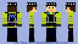 Police Dog Handler Minecraft Skin