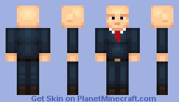 Bald Man In a Suit Minecraft Skin