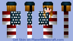 Scarlett - The Human Cannonball [Circus Contest] Minecraft Skin