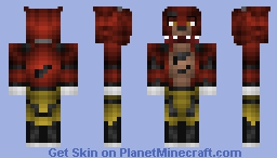 FNaF - Foxy (better in 3d) Minecraft Skin