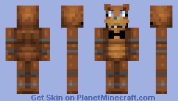 Freddy Fazbear (Collab With FireBoltCreeper1234) POP REEL Minecraft Skin