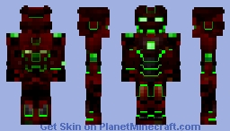 Demonic Ironman requested by Minefreak_MC [Better in 3D] Minecraft Skin