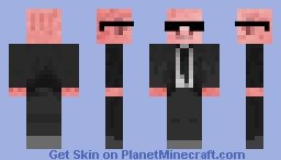 Men in Black Pigman Minecraft Skin
