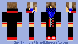 Blue and Black Teen Minecraft Skin