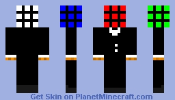 Rubik's Cube in a Suit Minecraft Skin