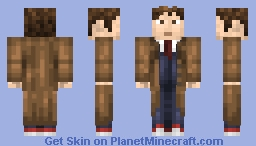 10th Doctor (David Tennant) w/ removable coat Minecraft Skin