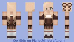Brownie ~ Dessert Humanized Series Minecraft Skin