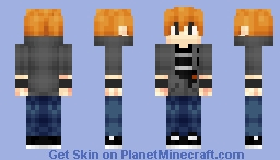 Anime Guy (Alex Version) Minecraft Skin