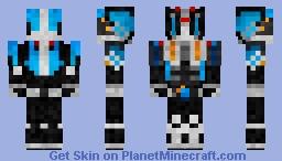 Kamen Rider Knuckle Diend Arms Minecraft Skin