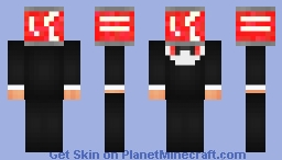 COca cola head Business suit/Tuxedo (1.8) Minecraft Skin
