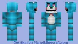 Toy Bonnie (FNaF 2) (better in 3D) Minecraft Skin