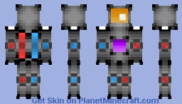 High-Tech Robot [First skin] [1.7+ 64x64 skin] Minecraft
