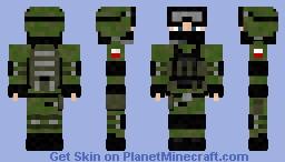 Polish Grom Soldier Minecraft Skin