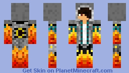 My fire dude skin ( looks like the real me for the most part) Minecraft Skin