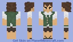 Medieval green citizen Minecraft Skin