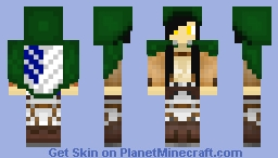 [Girl] Attack on Titan! [Looks better in game!] Minecraft Skin
