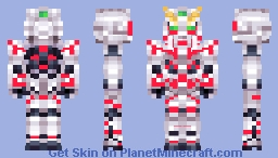 RX-0 Unicorn Gundam Destroy Mode Minecraft Skin