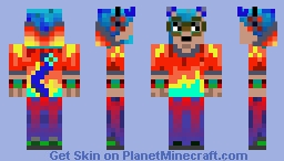 Colorful Emo Kitty guy Minecraft