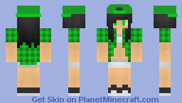 green gurl :D Minecraft Skin