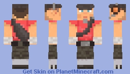 RED Scout Minecraft Skin